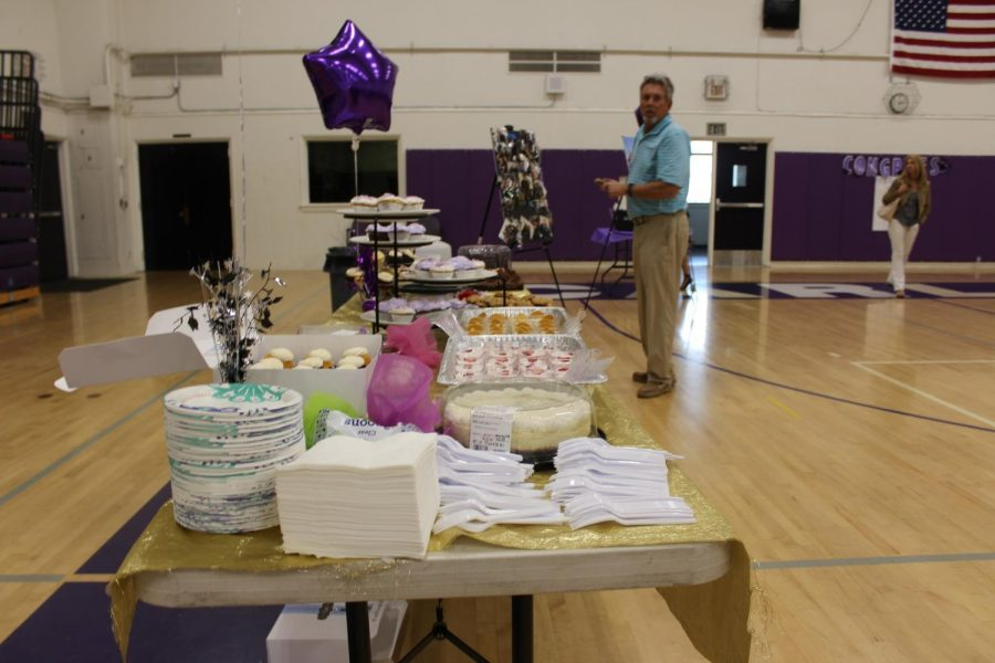 Food was bought to the speech and debate banquet by parents, which ended up to be more than enough.