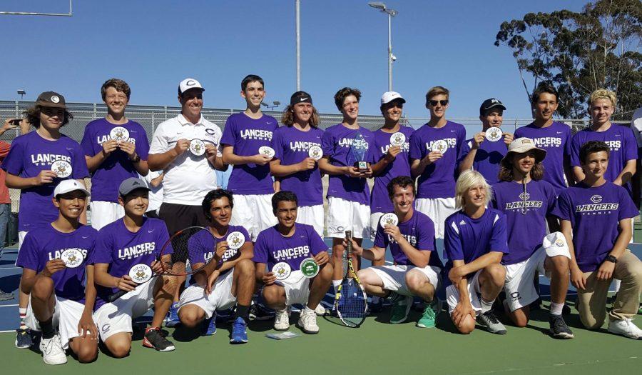 Carlsbad High School's varsity tennis team won their first CIF championship this year.
