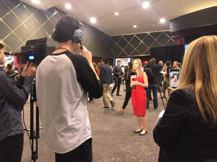 Senior Olivia Sklenka reports live from Golden Hall in San Diego. CHSTV was able to update the public about the mid term election taking place.