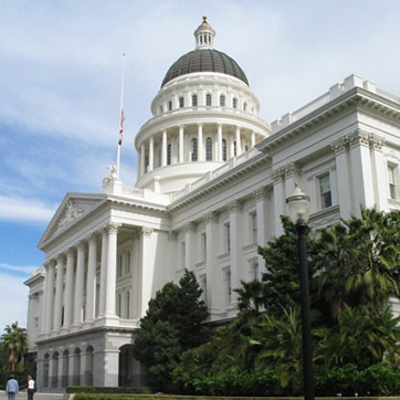 California's State Building at Sacramento from the State website