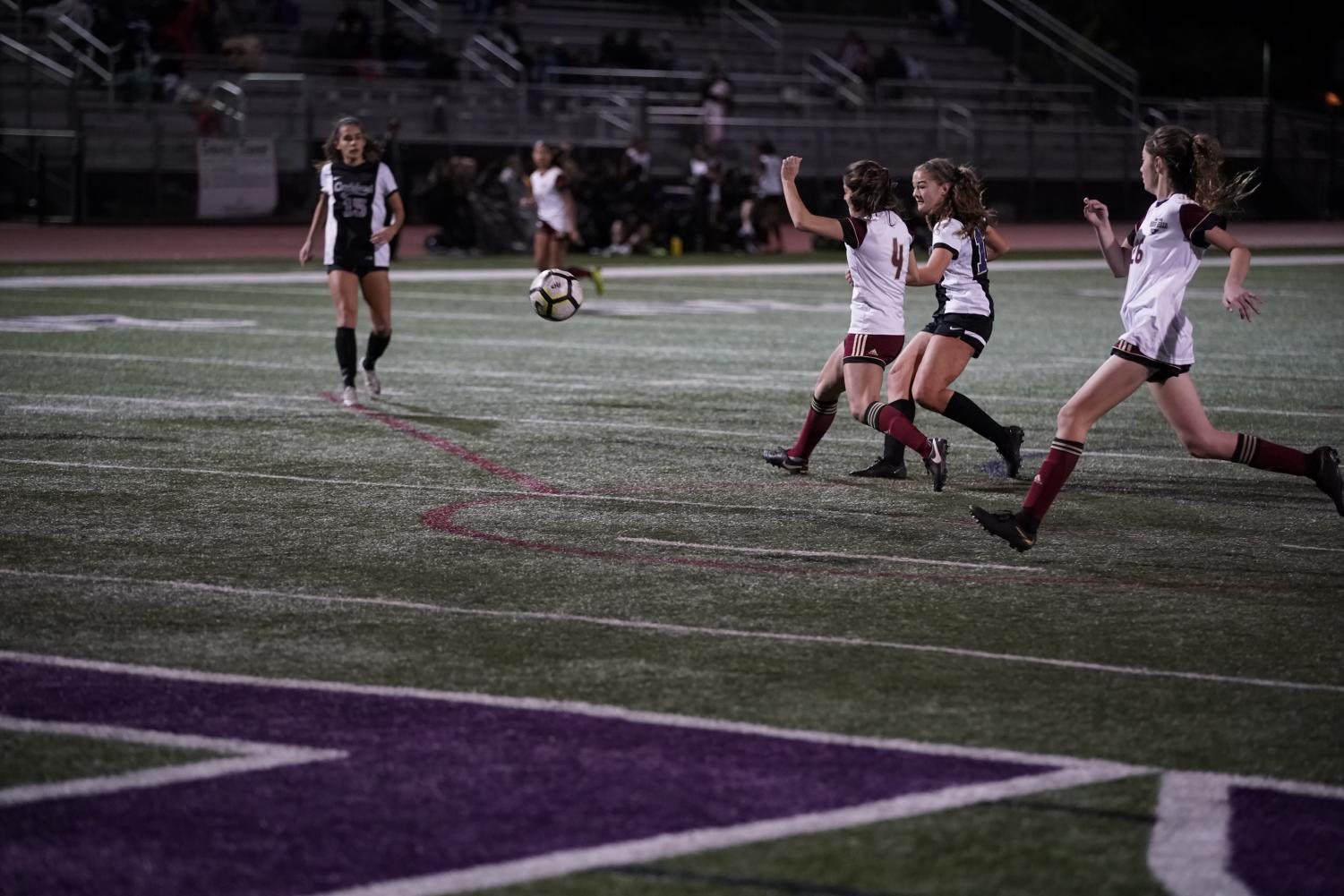 Junior Juliana Vanderbyl follows through on a shot toward goal. The Lancers have a current 14-4 record on the season.  (Courtesy of Juliana Vanderbyl)