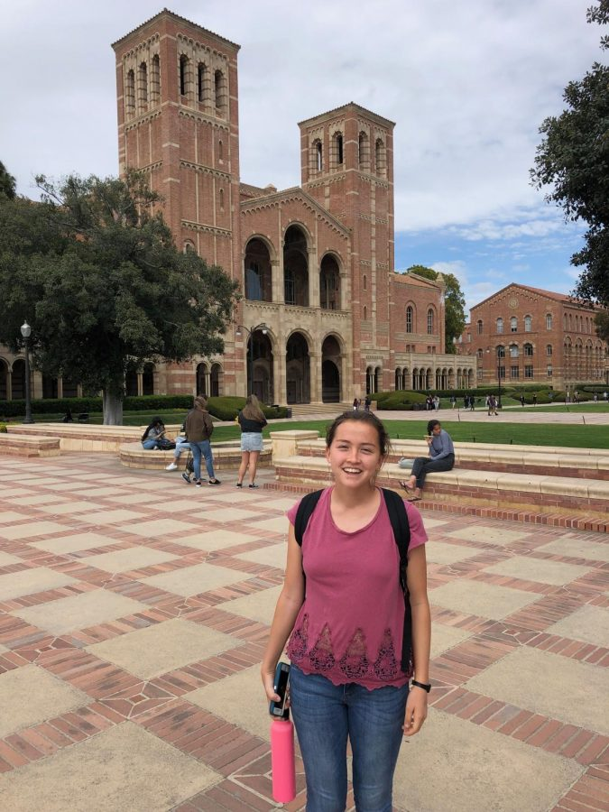 Senior Audrey Williams toured UCLA with her friends over spring break.
