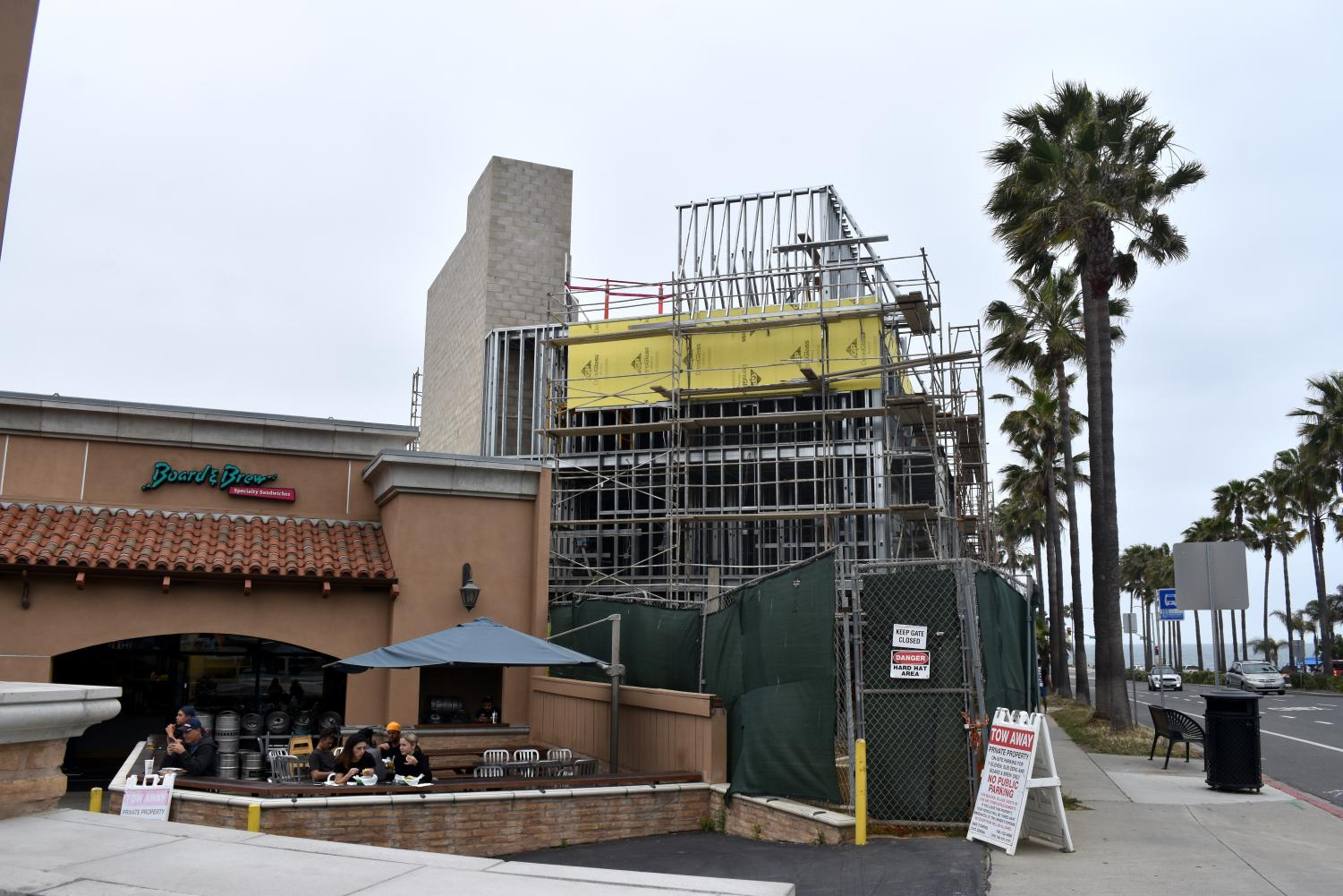 A new hotel is being built right next to the Carlsbad favorite, Board and Brew. The Carlsbad village is one of many areas getting new additions with new locations being built.