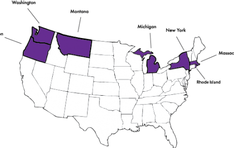 States in the US have already taken action on the issue. Statewide bans have been initiated in the purple states.