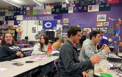 A practice takes place in the ASB room in order to prepare for the upcoming competition.