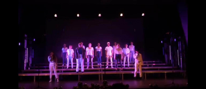 The Acapella Club performs their Daft Punk Medley at the choir show.