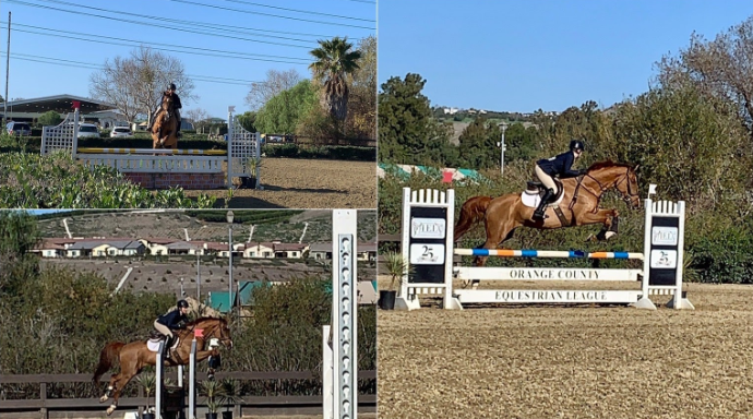 Junior Shelby Such participates in horseback riding with the Orange County Interscholastic Equestrian League. Photos Courtesy of Shelby Such.