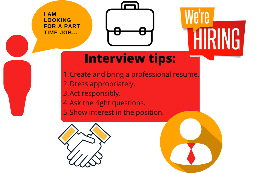 For students, looking for a job, make sure to impress in an interview.