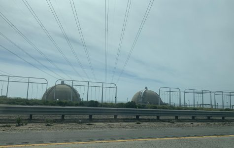 The power plant at San Onofre is currently still intact, and can be seen while driving up the I-5.