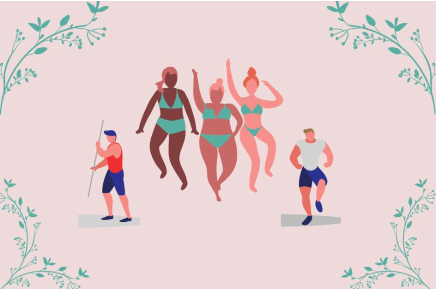 Diverse bodies of different shapes and sizes. Graphic by Sophia Weis.