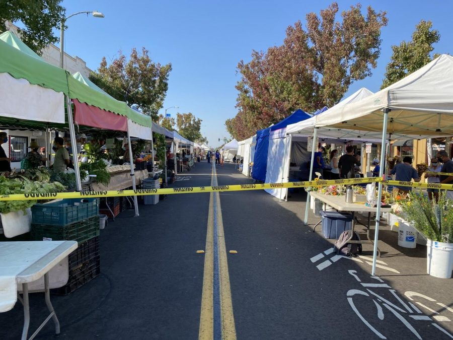 The Farmers Market on State Street in Carlsbad is open for business after having been closed in the early months of Covid-19.
