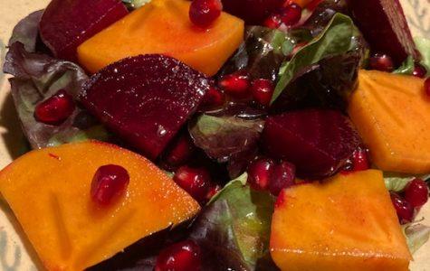 Persimmon Beet Salad with Citrus Vinaigrette