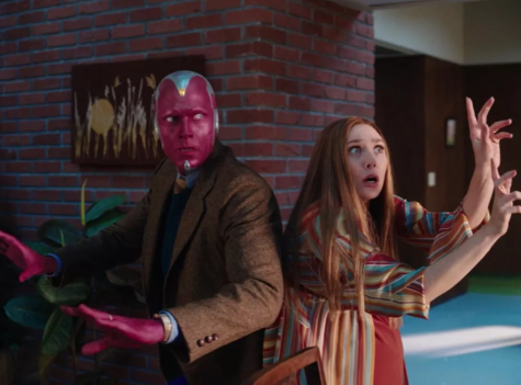 Wanda and Vision are seen back-to-back dealing with the mishaps of a witchy pregnancy.