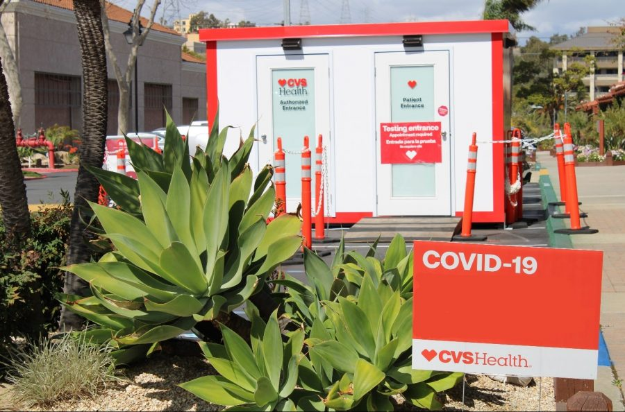 A CVS COVID-19 center. This Oceanside location is featured for its positively reviewed service amidst the pandemic.