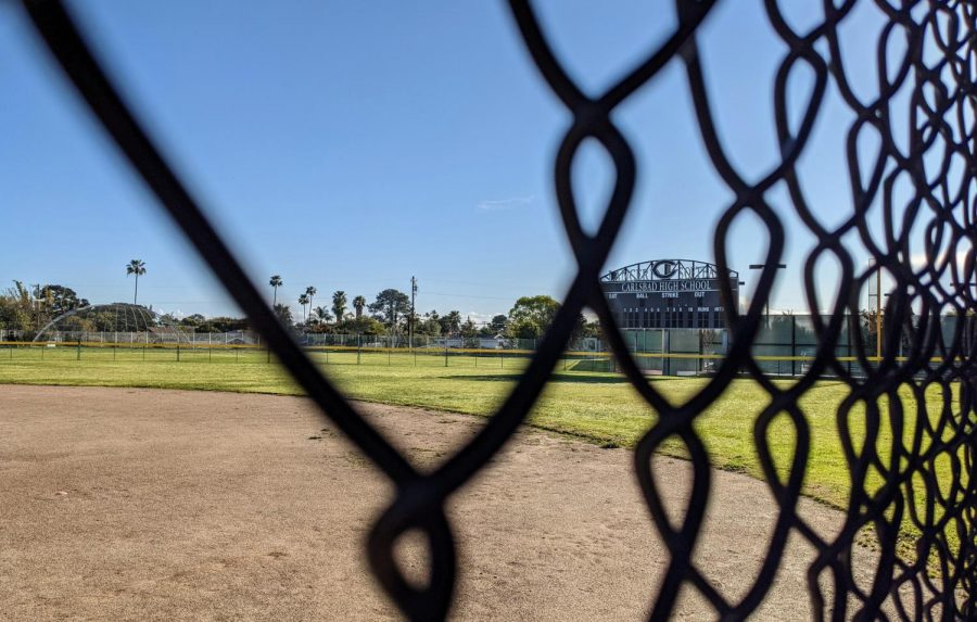 Carlsbad High's softball field is once again in use following the early stop of the 2020 season.