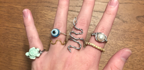 All rings featured in this image are hand made by Teagen Seifert. Photo by Teagen Seifert.