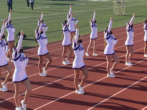 The JV cheer team