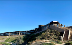 The view of the Alila Marea Beach Resort Hotel from Tower 20 at South Ponto State Beach.