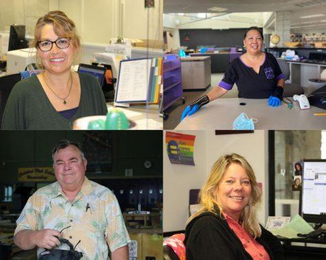 Staff members retire