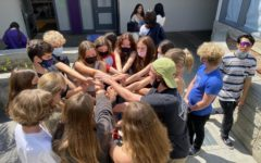 C3 Club practicing team building exercises during their club meeting.
