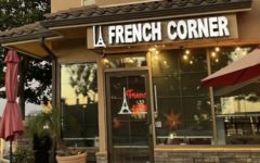 French Corner cafe, opened by Palombi-Long,  welcomes customers to eat homemade baked  goods.