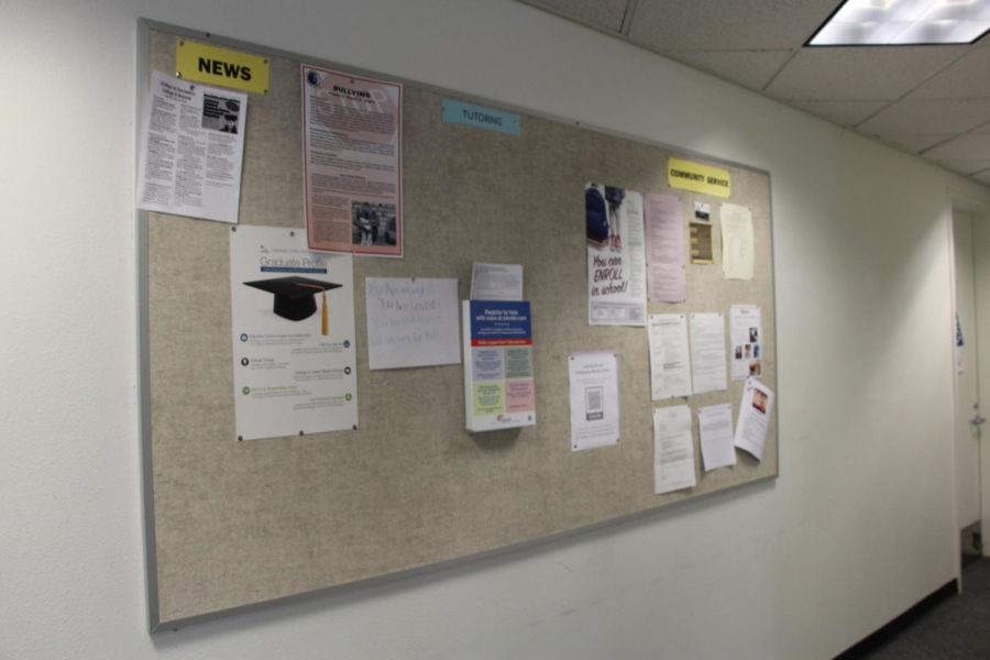 The bulletin board in the counselors office has job opportunities posted for any student interested, and work permits can be picked up at the attendance office.