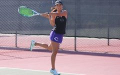 Senior captain Cecilia Crocker plays diligently against San Dieguito Academy.